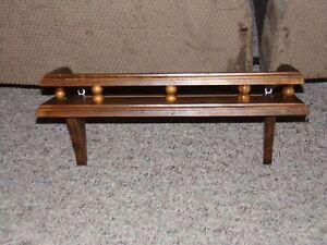 Vintage Would Shelf Plate Groove