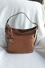 NWTMICHAEL KORS MK Brown Bedford Handbag Leather Hobo Bag Purse Shoulder Medium