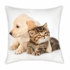 Cuscino Cuscino Morbido Cuscino Decorativo Con Cane E Gatto 40 X 40 CM