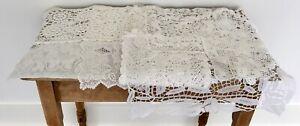 Lot Vintage Lace Doilies Crochet Table Runner Place Mats Etc No.11