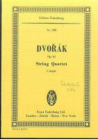DVORAK ~ String Quartet C Dur Op. 61 - Studienpartitur