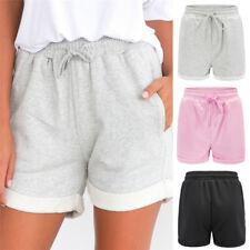Womens Holiday Lace Up High Waist Pocket Ladies Summer Beach Hot Pants Shorts LJ