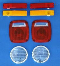 Jeep CJ7 1976-1980 8 PC Lens Kit  Front Parking, Side marker & Tail light lenses