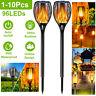 96 LEDs Solar Torch Light Dancing Flame Flickering Lamp Waterproof Garden LOT