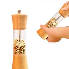 New Pepper Spice Salt Mill Shaker Grinder Manual Muller Kitchen Tool Wooden