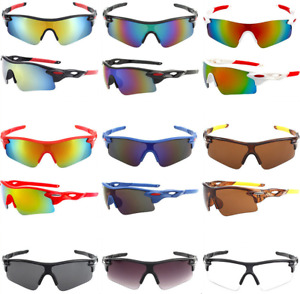 UV400 Outdoor Cycling Sunglasses Lens Eyewear Windproof Bicycle Riding Sports