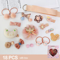 18PCS Hair Clip Set for Baby Girls Xmas Gift Bow knot Barrette Accessories Cute