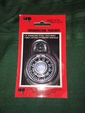 """uhp Combination Padlock 2"""" Stainless Steel Lock Body *FREE SHIPPING*"""