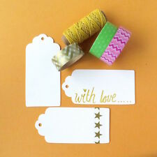 Blank White Paper Gift Tags 20 X (9x4.5cm)