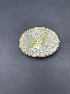 Gold and Silver Eagle Belt Buckle