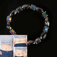 Magnetic Bracelet Beads Hematite Stone Health Care Lose Weight Jewelr 4H