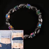 Magnetische Armband Perlen Hämatit Stein Gesundheitswesen Gewicht verlieren BXDE