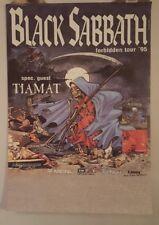 Black Sabbath Forbidden  tour  1995 Original Concert  poster tiamat