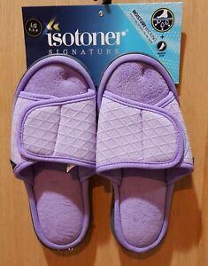 Isotoner Paisley Purple  Indoor/Outdoor Slippers, L (8.5 - 9)