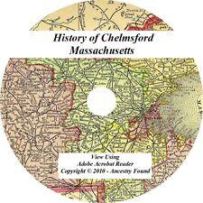 1917 History & Genealogy of CHELMSFORD Massachusetts MA