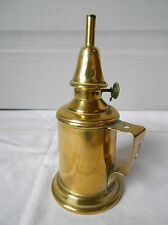 FRENCH Antique BRASS OIL LAMP stamped LAMPE PIGEON