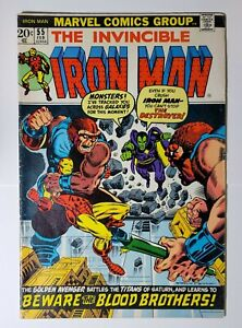 IRON MAN (1968) #55: 1st APPEARANCE THANOS, DRAX: CONDITION (5.0 - 6.0): MCU KEY