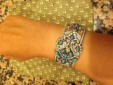 One of a Kind designer Turquoise Cuff Bracelet Sleeping Beauty Gold AMAZING!!!!!