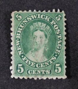 NEW BRUNSWICK, QV, 1860, 5c. deep green value, SG 15, used condition, Cat £18.