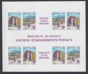 EUROPA CEPT Monaco Block 1990 postfrisch/** (MNH) UNGEZÄHNT/IMPERFORATED - € 275