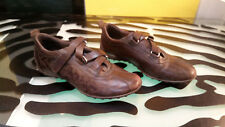 Geox Brown Leather Flats Shoes Good Condition Womens Size 37 Sporty Mary Jane
