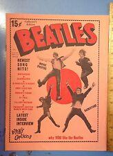 Vintage 1964 Beatles Fan Magazine Vol. 1 No. 4 By Charlton Publications