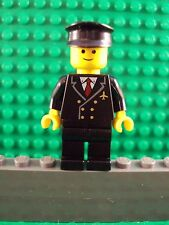 Lego Minifig ~ Airplane Pilot ~ Classic City Town Captain #qrtf5