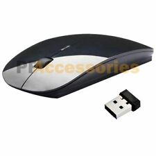 2.4 GHz Optical USB Wireless Slim Mouse Black Receiver for Mac Laptop PC Macbook