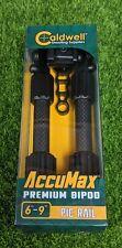 Caldwell AccuMax Premium Bipod, Lightweight Carbon Fiber, Non-Slip - 1081952