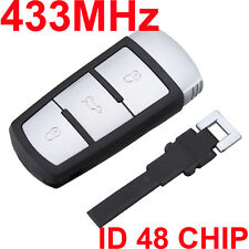 3 BUTTON Car 434 MHz Key Keyless Entry Fob VW Passat CC Magotan ID48 Chip K31