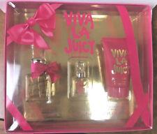 Viva La Juicy by Juicy Couture 3 Piece Set 0.5oz edp sp+.17oz parfum+1.7B/Lot