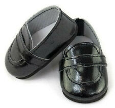 "Black Loafer Dress Shoes Boy made for 18"" American Girl Doll Clothes"