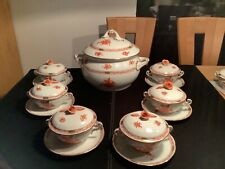 Herend Apponyi orange AOG Suppenservice für 6 Personen Terrine mit 3,5 l Volumen
