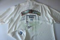 Tommy Bahama Camp Shirt Tampa Rays Embroidered Panelback Limited Large L
