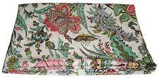 Indian 5 Yard Fabric Cotton Dress Material Sanganeri Floral Print Hand Block