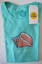 "NWT Life is Good.®_Women's Classic Fit ""Sea Shell""  S/S Crew-Neck Tee (M)"
