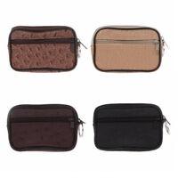 Unisex Protable Mini PU Leather Card Coin Key Ring Holder Zipper Purse kim