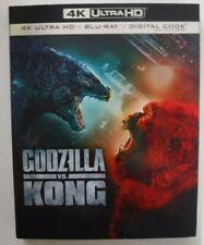 Godzilla Vs. Kong (4K Ultra HD + Blu-ray + Digital + Slipcover, New & Sealed)