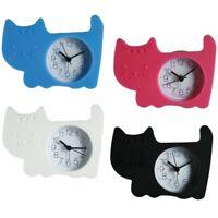 Silikon-Wecker Kinderwecker, Design: Katze, inkl. Batterie, ca. 10 cm, 4 Farben