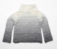 Marks & Spencer Womens Size 12 Wool Blend Grey Jumper (Regular)