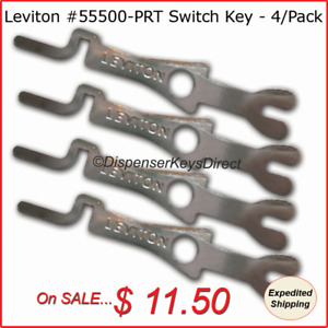 Leviton #55500-PRT  - Tamper Proof Electrical Switch Key - (4/pack)