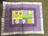Cute Girls Pillow Sham, Shades of Purple with Flowers New