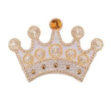 Sew On Motifs or Iron On Dresses Garments Applique Patches 5.5cm -Gem Gold Crown