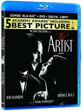 The Artist  (Blu-ray + DVD + Digital Copy) Jean Dujardin, Berenice Bejo NEW