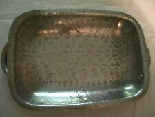 "Vintage 10""X7"" Aluminum Rectangular Tray/Lid Circa 1950""S Good Condition"