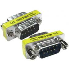 DB9 Macho A M 9 Polos Serial RS232 Adaptador de Conectores Convertidor Superior
