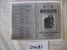 Bosch Instruction Manual for ARC LIGHT magneto,  3,4  & 6 cylinders   my#0681clo