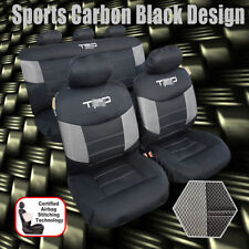Airflow Cool Black Mesh Airbag Car Seat Cover Full Set 9PCS For Tacoma 1997-2018