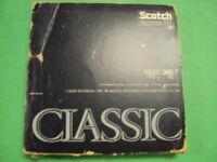 """Scotch Classic 7"""" 1200 Feet Black REEL-TO-REEL Tape, Card Board Jacket, & Case."""