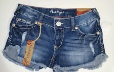 New denim shorts amethyst shorts mid rise blue jeans shorts distressed cute